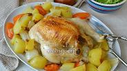 Фото рецепта Цыпленок с овощами в пакете