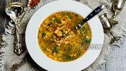 Фото рецепта Суп гороховый с клёцками (Nokedli) по-венгерски
