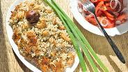 Фото рецепта Рис с сушёными креветками и машем