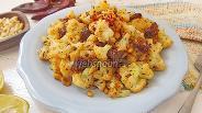 Фото рецепта Цветная капуста с колбасками