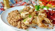 Фото рецепта Перепёлки с гречкой