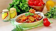 Фото рецепта Тушёное филе минтая с овощами
