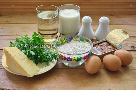 Печень трески с блинами — photo 1
