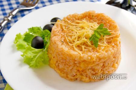 Рисовая каша с томатной пастой и сыром