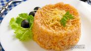 Фото рецепта Рисовая каша с томатной пастой и сыром