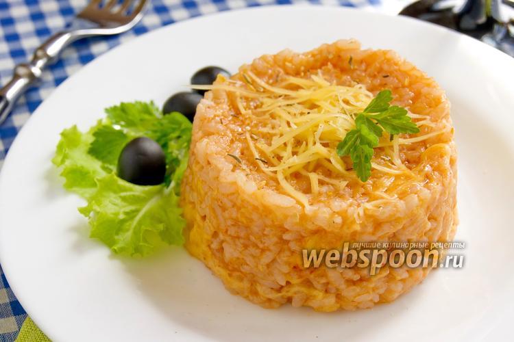 Фото Рисовая каша с томатной пастой и сыром