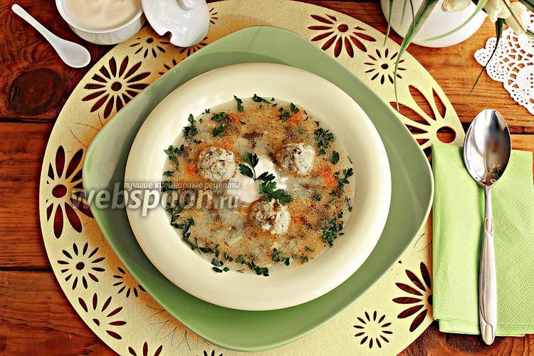 Рецепт Зелёный борщ с фрикадельками