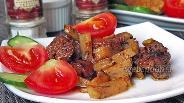 Фото рецепта Говядина запечённая с помидорами и кольраби