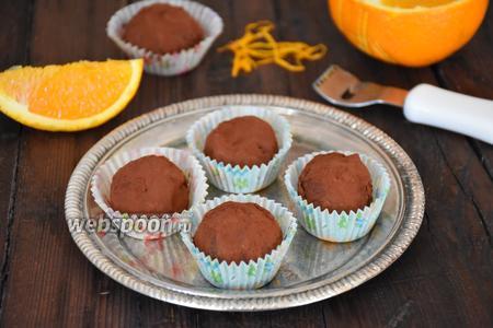Фото рецепта Шоколадные трюфели с кардамоном