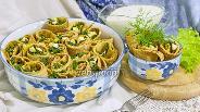 Фото рецепта Блины с зелёным луком и яйцом