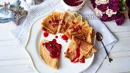 Фото рецепта Блины цельнозерновые с ягодами