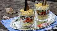 Фото рецепта Салат со шпротами Акватика