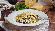 Фото рецепта Паста со сморчками и беконом в сметанно-сливочном соусе