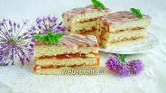 Фото рецепта Пирожное «Полоски»