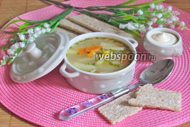 Фото Гороховый суп из копчёных хребтов сёмги