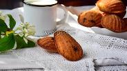 Фото рецепта Печенье мадлен с чёрной смородиной