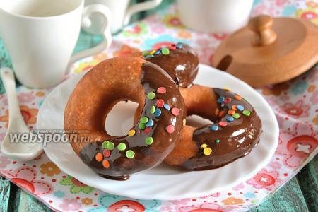 Пончики на сковороде «Фантазия» в шоколаде