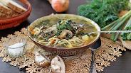 Фото рецепта Рыбный суп с грибами и вермишелью