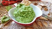 Фото рецепта Дип из зелёного горошка