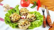 Фото рецепта Шампиньоны фаршированные куриной грудкой