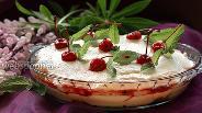Фото рецепта Творожно-сливочный десерт с вишней и савоярди