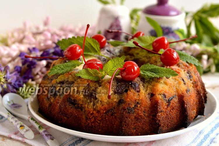 Фото Масляный кекс с консервированной вишней
