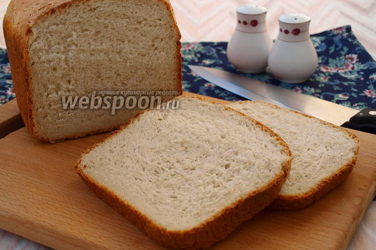 Фото Хлеб на сыворотке с овсяными хлопьями и смальцем в хлебопечке