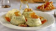 Фото рецепта Творожно-шпинатное суфле с пралине