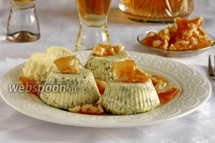 Фото Творожно-шпинатное суфле с пралине