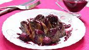 Фото рецепта Печень индейки с ежевичным соусом