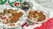 Фото рецепта Кюфта-кебаб с луково-гранатовым салатом