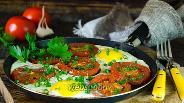 Фото рецепта Яичница с помидорами
