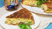 Фото рецепта Пирог на кефире на сковороде