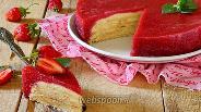 Фото рецепта Блинный торт с клубничным желе