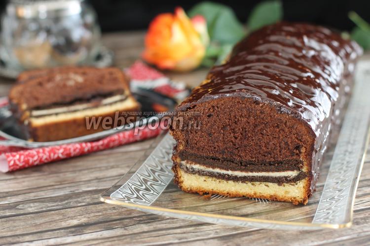 Фото Шоколадный кекс с печеньем