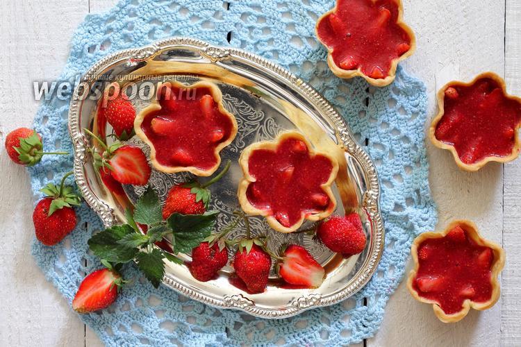 Фото Корзиночки с клубникой в желе