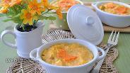 Фото рецепта Запеканка из пшена морковного жмыха