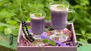 Фото рецепта Молочный коктейль с черникой
