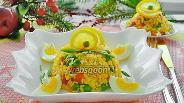 Фото рецепта Тёплый салат с овощами и рисом «Краски лета»