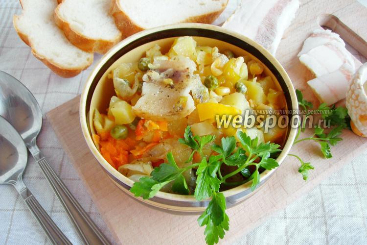 Фото Картошка с овощами в горшочке