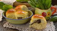 Фото рецепта Пирожки с печенью и укропным маслом