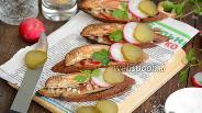 Фото рецепта Бутерброды с копчёной барабулькой