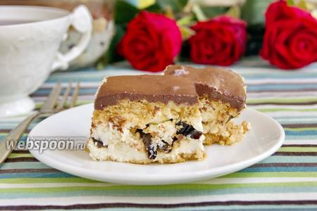 Фото рецепта Творожный десерт с шоколадной глазурью