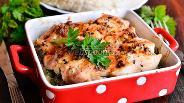 Фото рецепта Курица запечённая с гавайской смесью и грибами