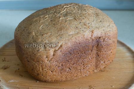 Готовьте до окончания режима, затем хлеб достаньте, извлеките лопасть и остудите на решётке.