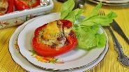 Фото рецепта Перец фаршированный мясным фаршем с изюмом