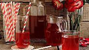 Фото рецепта Холодный чай с ревенем и мятой