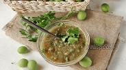 Фото рецепта Ткемали из зелёной алычи