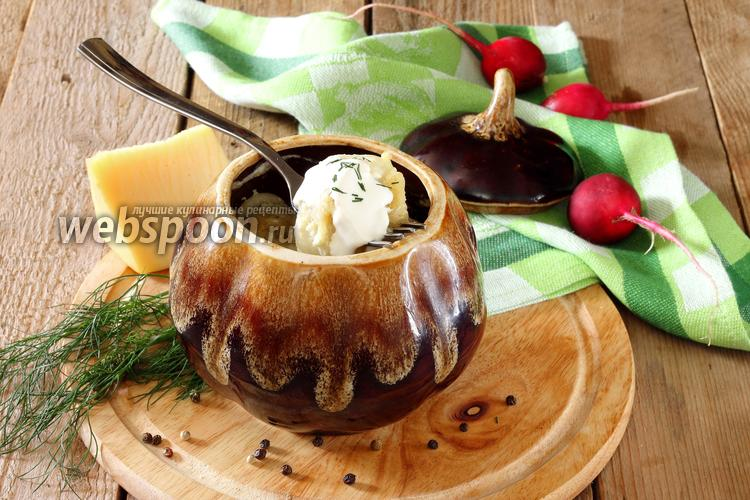 Фото Пельмени в горшочке в духовке