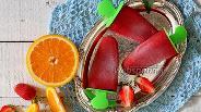 Фото рецепта Клубнично-апельсиновый сорбет
